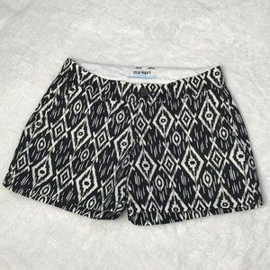 OLD NAVY Shorts   Black/Cream Patterned   Size 0